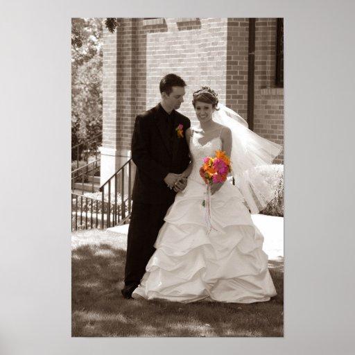 wedding black and white print