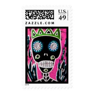 Wedding - Black King Sugar Skull Angel Stamp