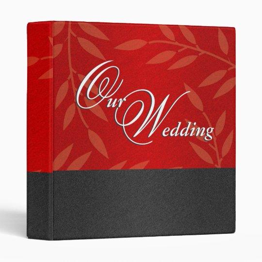 Wedding black red 3 ring binder