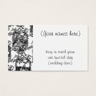 Wedding black toile- address cards