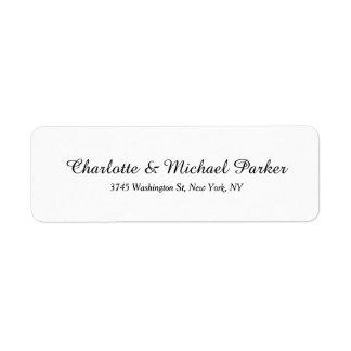 Wedding Black White Creative Brush Script Family Label