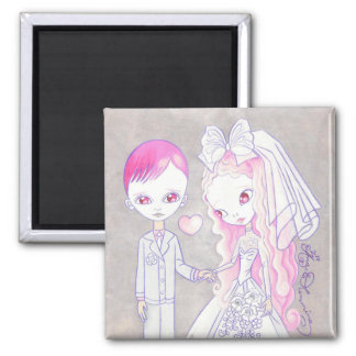Wedding Bliss 2 Inch Square Magnet