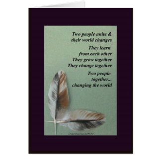Wedding Bliss - Two People Unite Card