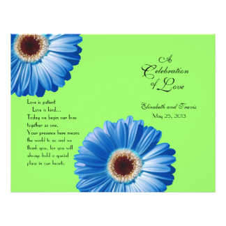 Wedding Blue Daisy/ Program Flyer
