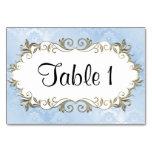 Wedding Blue Frame Table Card