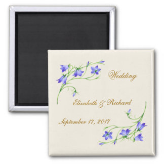 Wedding. Bluebell flowers Magnet