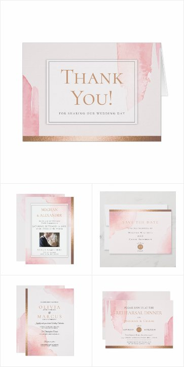 WEDDING | Blush Pink Watercolor Wash