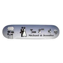 wedding board. skateboard