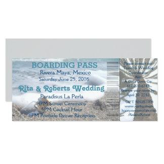 Wedding Boarding Pass Ticket-Destination Bottle Card