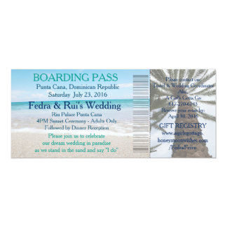 Wedding Boarding Pass Ticket-Destination Card