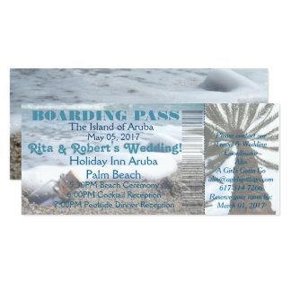 Wedding Boarding Pass Ticket-Message in a Bottle Card