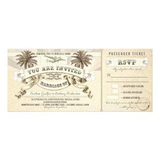 wedding boarding pass tickets invitations