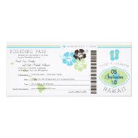 Wedding Boarding Pass to Hawaii Card (<em>$3.25</em>)