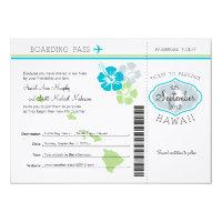 Wedding Boarding Pass to Hawaii 4.5x6.25 Paper Invitation Card (<em>$2.75</em>)