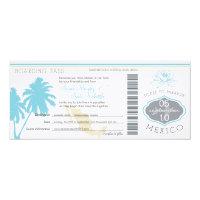Wedding Boarding Pass to Mexico 4x9.25 Paper Invitation Card (<em>$3.25</em>)