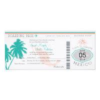 Wedding Boarding Pass to Mexico Card (<em>$3.25</em>)