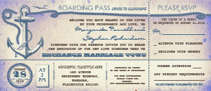 Wedding Boarding P Vintage Tickets With Rsvp Invitation