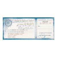 wedding boarding pass-vintage tickets with RSVP 4x9.25 Paper Invitation Card (<em>$2.57</em>)