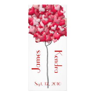 Wedding Bookmarks Favors Book Mark Heart Tree Custom Rack Cards