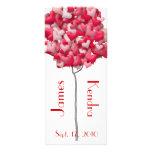 Wedding Bookmarks Favors Book Mark Heart Tree Rack Card Template