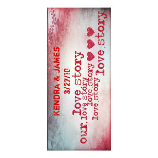 Wedding Bookmarks Favors Book Mark love story Custom Rack Card