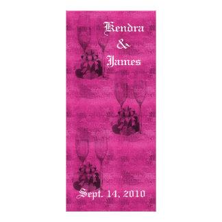Wedding Bookmarks Favors Champagne Glasses Rack Card