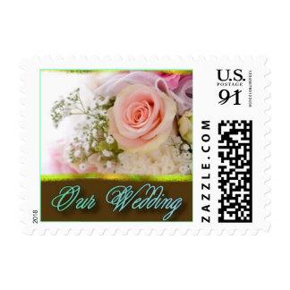 Wedding Bouquet Aqua - Customized - Customized Postage Stamp