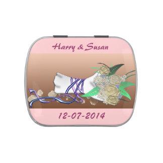 wedding bouquet candy tin
