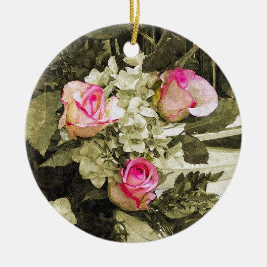 Wedding Bouquet Ceramic Ornament