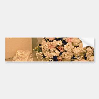 Wedding bouquet  flowers bumper stickers