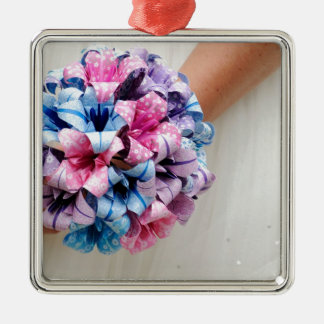 Wedding Bouquet Metal Ornament
