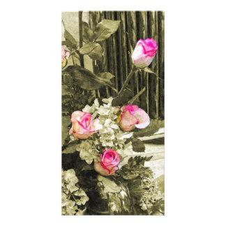 Wedding Bouquet Customized Photo Card
