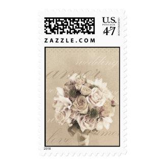 wedding bouquet postage stamp