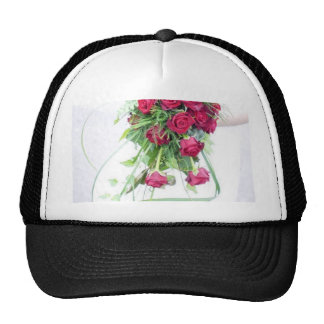 Wedding Bouquet Red Reses Hat