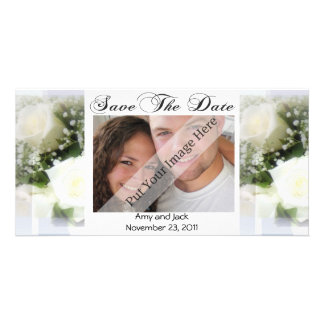 Wedding Bouquet Save the Date Photo Card