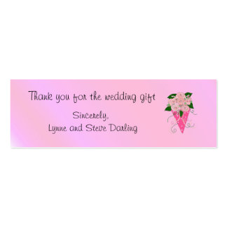 Wedding Bouquet Thank You Mini Business Card