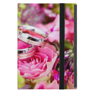 Wedding Bouquet with Wedding Ring Bands Case For iPad Mini