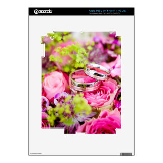 Wedding Bouquet with Wedding Ring Bands iPad 3 Skin