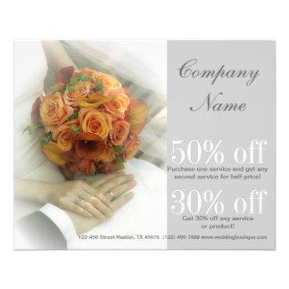 wedding bouquets wedding planner business flyer