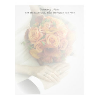 wedding bouquets wedding planner business letterhead