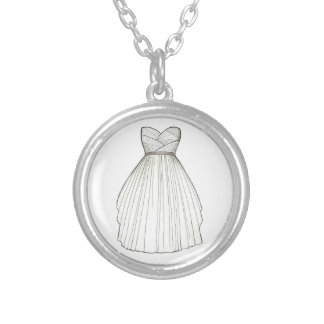 Wedding Bridal Gown Dress Bride Gift Necklace