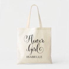 Wedding Bridal Party | Flower Girl Tote Bag at Zazzle