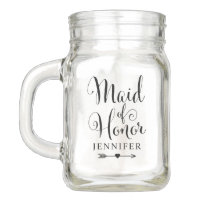 Wedding Bridal Party | Maid of Honor Mason Jar