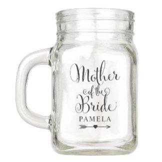 Wedding Bridal Party | Mother of the Bride Mason Jar