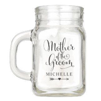 Wedding Bridal Party | Mother of the Groom Mason Jar