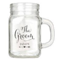 Wedding Bridal Party   The Groom Mason Jar