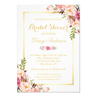 Floral Wedding Invitations Announcements Zazzle