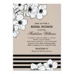 Wedding Bridal Shower Invitation | Anemone Flowers Personalized Invitation