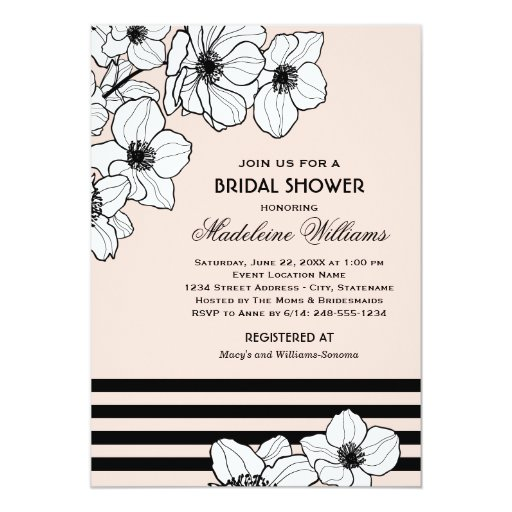 Wedding Bridal Shower Invitation | Anemone Flowers 5