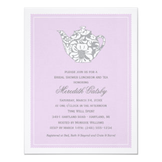 Wedding Bridal Shower Invitation | High Tea Theme Personalized Announcement